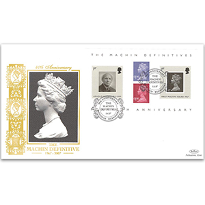 2007 Machin Definitives 40th Anniversary M/S GOLD 500