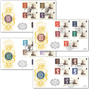 2007 Machin 40th Smilers Sheet GOLD 500 - Set of 4