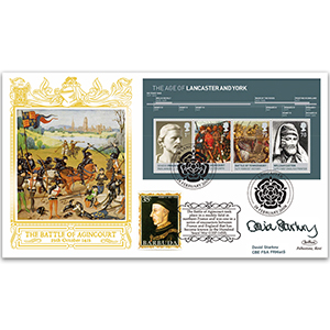 2008 Houses of Lancaster and York M/S GOLD 500 - Signed by David Starkey