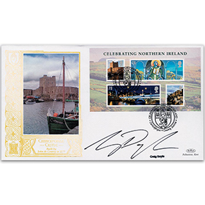 2008 Celebrating Northern Ireland M/S GOLD 500 - Signed by Craig Doyle