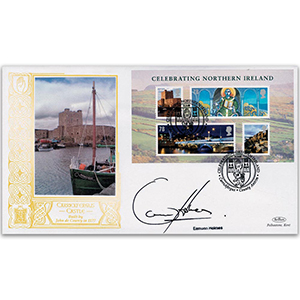 2008 Celebrating Northern Ireland M/S GOLD 500 - Signed by Eamonn Holmes