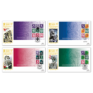 2008 50th Anniversary of Country Definitives PSB GOLD 500 - Set of 4