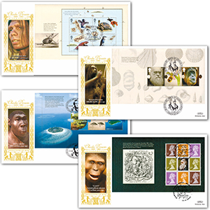 2009 Charles Darwin 200th PSB GOLD 500 - Set of 4