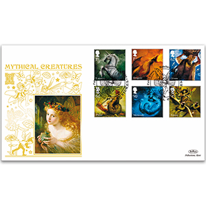 2009 Mythical Creatures Stamps GOLD 500