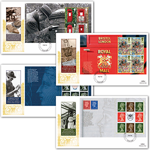 2009 Postboxes - Treasures of the Archive PSB GOLD 500 - Set of 4
