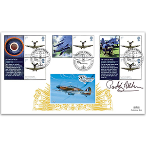 2010 Battle of Britain Generic Sheet GOLD 500 Cover 2 - Signed by Lord Ashdown
