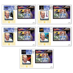 2011 Genius of Gerry Anderson M/S GOLD 500 - Set 5 Covers