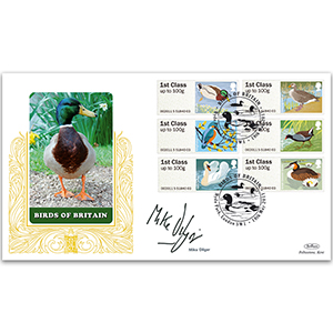 2011 Post & Go Birds of Britain No.3 GOLD 500 - Signed by Mike Dilger