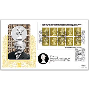 2011 Arnold Machin Centenary M/S GOLD 500