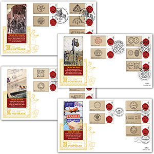 2011 First Postmark 350th Generic Sheet GOLD 500 - Set of 4