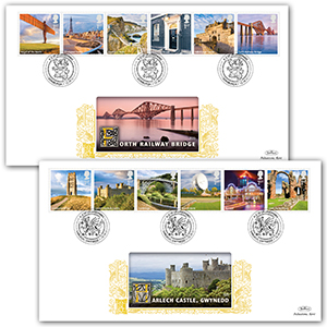 2011 A-Z of UK Landmarks Series 1 GOLD 500 - Pair
