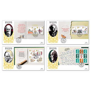 2012 Roald Dahl PSB GOLD 500 - Set of 4