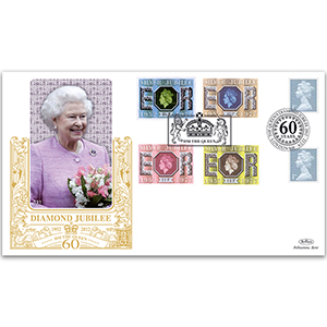 2012 Queen's Diamond Jubilee 1st from Booklet GOLD 500