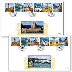 2012 A-Z of UK Landmarks Series 2 GOLD 500 - Pair