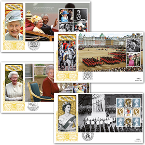 2012 HM Queen's Diamond Jubilee PSB GOLD 500 - Set of 4