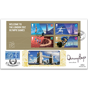 2012 Welcome to the London Olympic Games M/S GOLD 500 - Signed by Danny Boyle