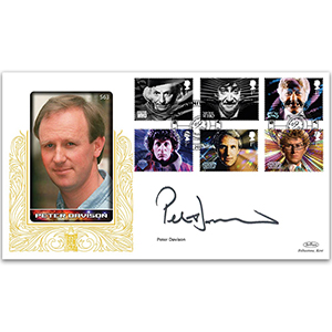 2013 50 Years of Doctor Who Stamps GOLD 500 - Cover 1 - Signed by Peter Davison