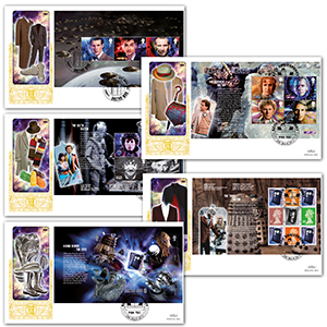 2013 50 Years of Doctor Who PSB GOLD 500 - Set of 5
