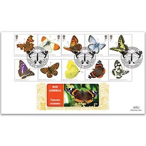 2013 Butterflies Stamps GOLD 500