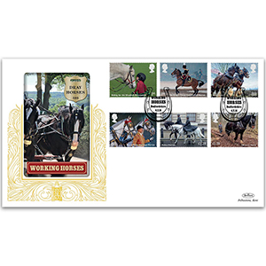 2014 Working Horses Stamps GOLD 500