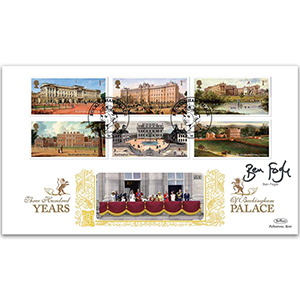 2014 Buckingham Palace Stamps GOLD 500 - Signed by Ben Fogle