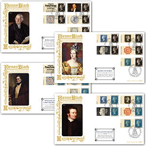 2015 175th Anniversary of the Penny Black Generic Sheet GOLD 500 - Set of 4