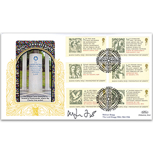 2015 Magna Carta GOLD 500 - Signed by Melvyn Bragg, The Lord Bragg