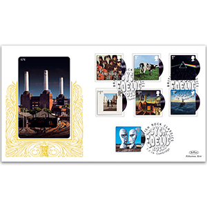 2016 Pink Floyd Stamps GOLD 500 Cover
