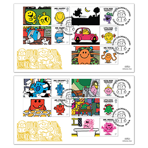 2016 Mr Men Generic Sheet Gold Pair
