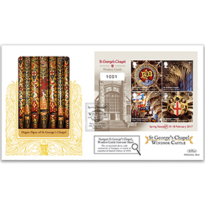 2017 Windsor Castle Stampex Overprinted M/S GOLD 500 - Ltd Edition 100