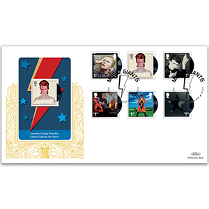 2017 David Bowie Stamps GOLD 500
