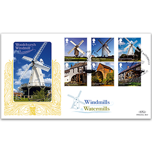 2017 Windmills and Watermills Stamps - Benham GOLD 500 Cover