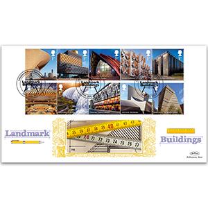 2017 Landmark Buildings Stamps - Benham GOLD 500 Cover