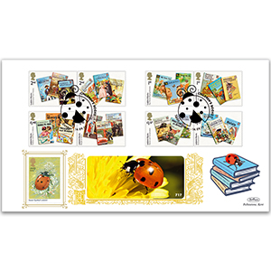 2017 Ladybird Books Stamps - Benham GOLD 500 Cover