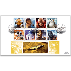 2017 Space Adventure Stamps - Benham GOLD 500 Cover