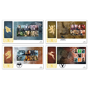 2018 Game of Thrones PSB - Benham GOLD 500 Set of 4