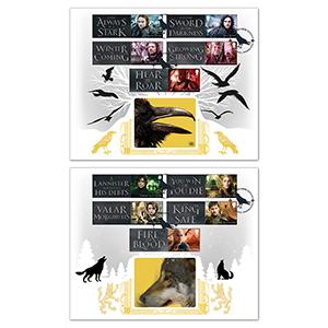 2018 Game of Thrones Generic Sheet - Benham GOLD 500 Pair of Covers