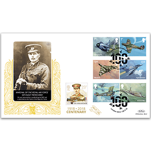 2018 RAF 100th Anniversary Stamps GOLD 500