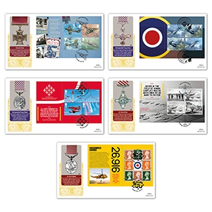 2018 RAF 100th Anniversary PSB GOLD 500 Set of 5 Covers