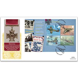 2018 RAF 100th Anniversary PSB GOLD 500 - (P2) 1 x 1st, 1 x £1.40, 2 x £1.57