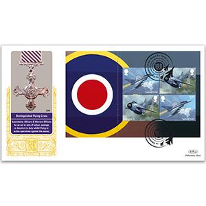 2018 RAF 100th Anniversary PSB GOLD 500 - (P1) 2 x 1st, 2 x £1.40
