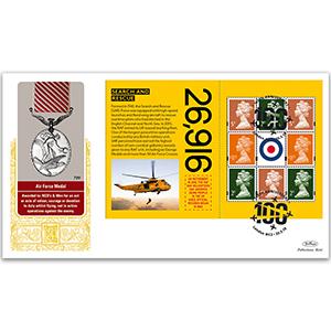 2018 RAF 100th Anniversary PSB GOLD 500 - (P5) Machin Pane - 3 x 2p, 3 x 5p, 2 x £1.17