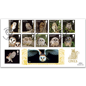 2018 Owls Stamps GOLD 500