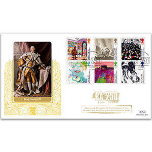 2018 Royal Academy of Arts 250th Stamps GOLD 500
