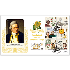 2018 Captain Cook Stamps Gold 500
