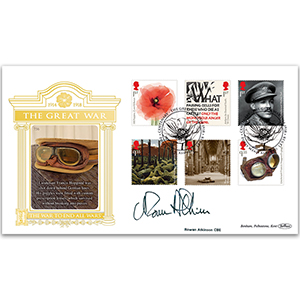 2018 WWI Stamps Gold 500 - Signed by Rowan Atkinson CBE