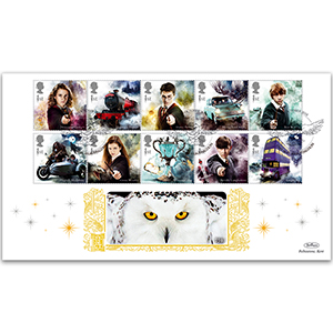 2018 Harry Potter Stamps Gold 500
