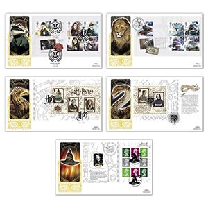 2018 Harry Potter PSB Gold Set of 5