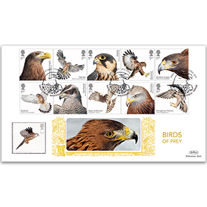 2019 Birds of Prey Stamps Gold 500