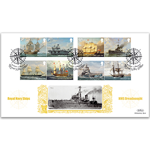 2019 Royal Navy Ships Stamps Gold 500
